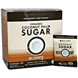 Big Tree Farms Organic Coconut Palm 50 Piece Sugar Packets, Blonde, 12 Ounce