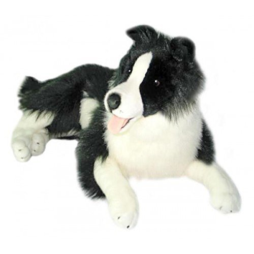 Bocchetta Plush Toys Oscar Border Collie, Sheepdog, Stuffed Animal, Extra Large, Size - 64cm/25″
