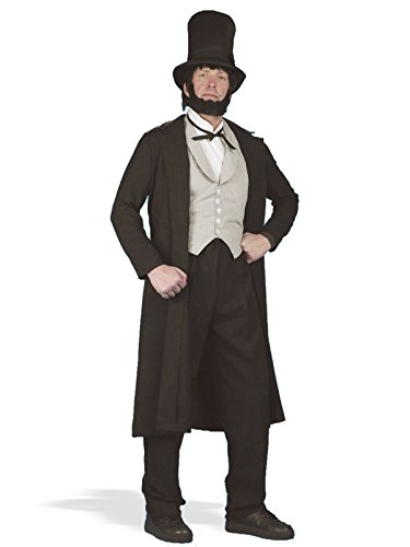 Forum Novelties Men's Abraham Lincoln Deluxe Costume, Black, (Adult Abe Lincoln Costumes)