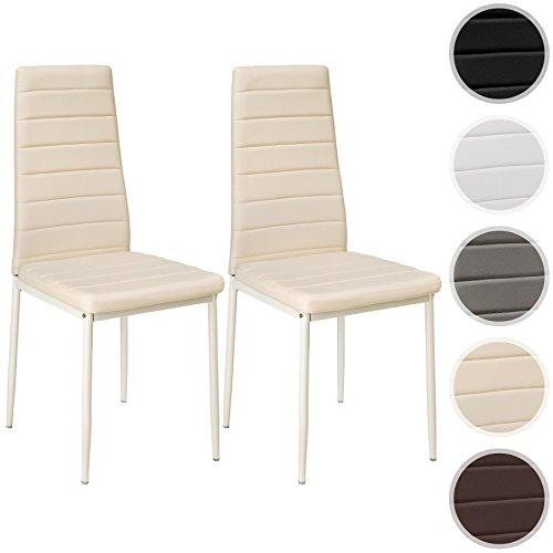 Tectake set di sedie per sala da pranzo 41x45x98 5cm for Colori per sala da pranzo