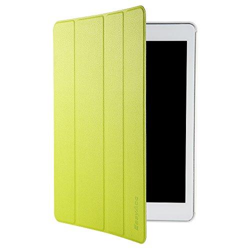 EasyAcc iPad Air 2 Smart Case Ledertasche Schutzhülle Bumper Hüllen Tasche Leder Hülle Ultra Slim Lederhülle Flip Case Etui mit Standfunktion / Auto Sleep Wake up für iPad Air 2 / ipad 6 - Grün, Kunstleder