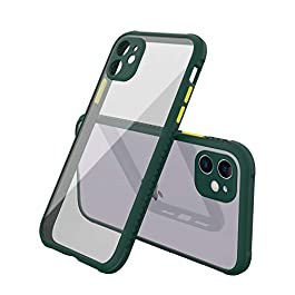 AE Mobile Accessories Back Cover for iPhone 11, Miqilin Series Tranparent Shock Proof Smooth Rubberized Matte Hard Back Cover (Dark Green)