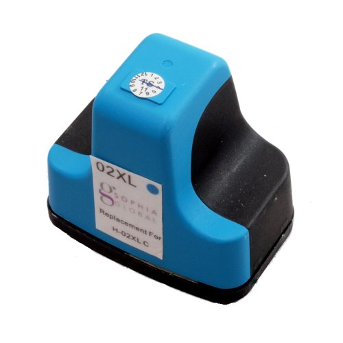Sophia Global Remanufactured Ink Cartridge Replacement for HP 02XL (1 Cyan)