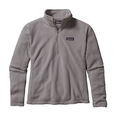 patagonia-womens-micro-d-1-4-zip-pullover-sweatshirt-medium-feather-grey