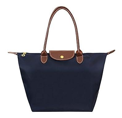 1489ceb5dd Amazon.com  New Nylon Large Bag Ladies Women Handbags Female Folding Long  Shoulder Famous Brands Tote Bags  Shoes