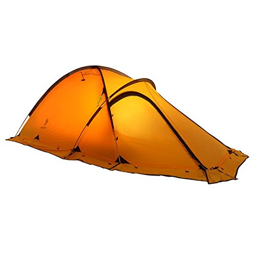 HILLMAN 2-Person 4-Season 20D Double Layer Silicone Ultralight High-altitude Outdoor Camping Tents (Yellow) from Hillman
