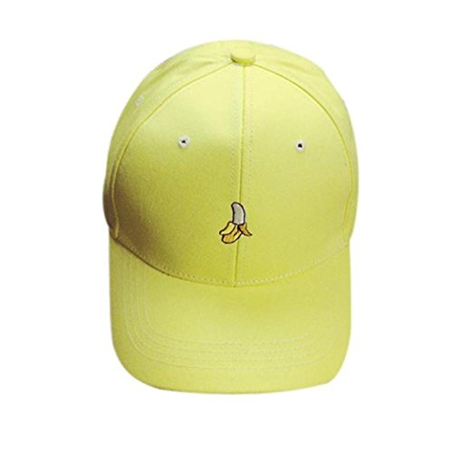 [OutTop Unisex Embroidery Fruit Baseball Cap Snapback Caps Hip Hop Hats (Yellow)] (Fruit Hat Lady)