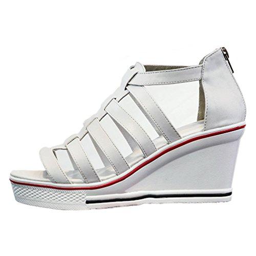 Confortable JRenok à Sandales 36 Compensées Sneakers Romaines Femme Plateforme Élégant Antidérapantes 43 Baskets Chaussures fqwfPr