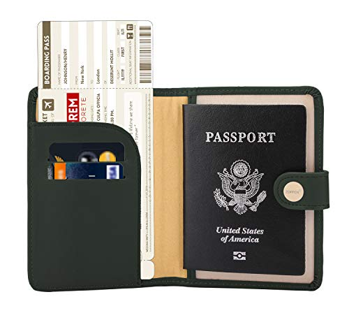 (Zoppen Rfid Blocking Travel Passport Holder Cover Slim Id Card Case (#24 Olive Green))