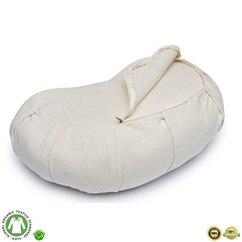 Buckwheat Crescent Therapeutic Meditation Cushion