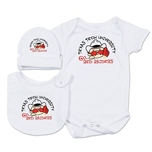 College Kids NCAA Texas Tech Red Raiders Baby Essential Set, 0-3 Months, (Texas Tech 2 Piece)