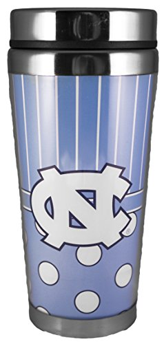 NCAA North Carolina Tar Heels 14 oz Polka Dot Travel Mug