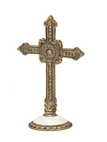 Kreuz Stehkreuz Standkreuz Tischkreuz Kruzifix antik Stil