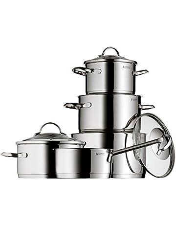 WMF Provence Plus - Batería de cocina de 5 piezas de acero inoxidable, 1 cacerola