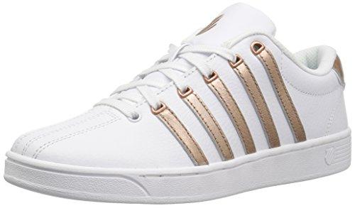 K-Swiss Women's Court Pro II CMF Sneaker, White/Peach Gold, 8 M US