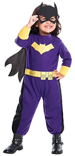 Toddler Bat Girl Costumes (Rubie's Costume DC Comics Batgirl Romper Costume, Toddler,)