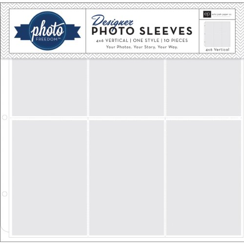 Freedom Photo Sleeves Protectors 10/Pk-4x6 Vertical - 12x12 Photo Sleeves 4x6