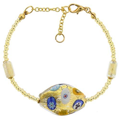 GlassOfVenice Murano Glass Royal Klimt Spiral Bracelet (Glass Spiral Bracelet)