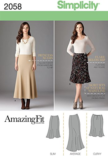 Simplicity 2058 Women's Skirt Sewing Patterns, Sizes -