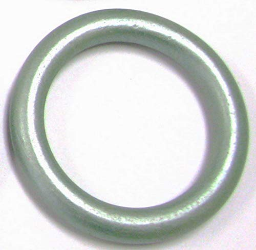 Linpeng Wood Loops / Wooden Rings for Craft work / DIY Jewelry / Ring Pendant / Jewelry making Connectors /  Ring size 68mm, thickness 8mm/ Silvery Light Green, Fern Color, Sage / 5PCS (Fern Wood Garden)