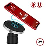 Wireless Charger Station, Digi Marker Qi Wireless Charger Stand,Wireless Charging Compatible iPhone X/8/8 Plus/Samsung Galaxy Note 8/5/S9/S9+/S8/S8+/S7/S7 Edge/S6 Edge Plus (Standard Charger(5W))