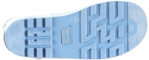 Playshoes Gummistiefel uni mit Reflektorstreifen 184310 Mädchen Gummistiefel Blau (bleu 17)