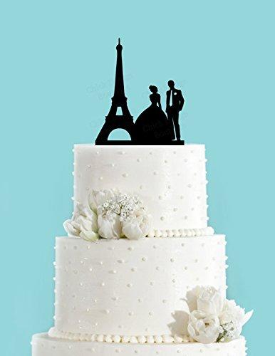 French Wedding Cake.Amazon Com Paris Couple Bride And Groom French Wedding Acrylic