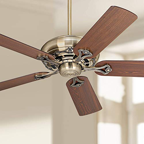 52 Trilogy Ceiling Fan Antique Brass Cherry for Living Room Kitchen Bedroom Family Dining – Casa Vieja