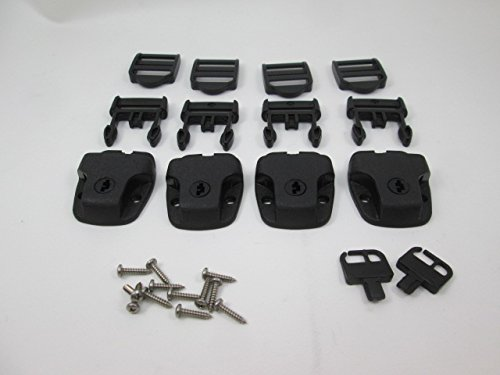 Tie Down Cover Spa ((4) Nexus Spa Hot Tub Cover Broken Latch Repair Kit Clip Lock Loc)