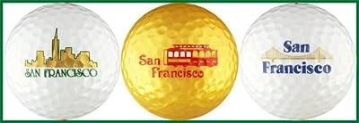 San Francisco Landmark Variety Golf Ball Gift Set