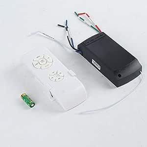 Ventilador de techo universal, con mando a distancia, 110-240 V, con temporizador, control inalámbrico, emisor de velocidad del viento, color blanco: Amazon.es: Bricolaje y herramientas