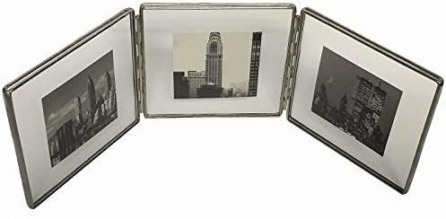 Amazon.com - SILVER Clear Glass Float Frame 5x5/4x4 Hinged Triple by ...