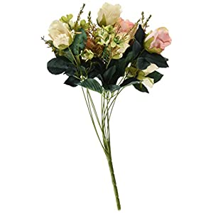 Soledi Beautiful Earl Rose Bouquet Charming Delightful Silk Flower Arrangement Large Palace Rose Artificial Flowers Hotel Wedding Home Decorative Flower 50