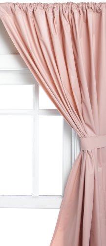 (Carnation Home Fashions Vinyl Bathroom Window Curtain, Rose, 45