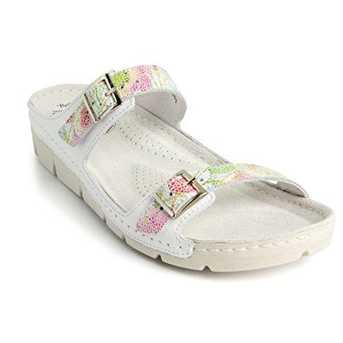 Cuir Blanc Chaussures Supérieure Chaussons Mules Sabots Femme et Mix en Sandales Batz Flexible Léger Garda Qualité de Z8q8O