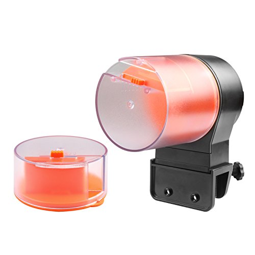 Automatic Fish Feeder 310ml Large Capacity Vacation Fish Food Feeder Aquarium Tank Auto Fish Food Timer Dispenser for Weekend, Holiday by heneng