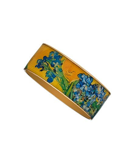 Van Gogh Irises Bangle Bracelet (Bracelet Gold 22kt)