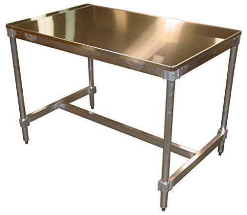 Stainless Steel 48 Inch Access - PVIFS AIFT303448-ST Stainless Steel Top I-Frame Work Table, 48