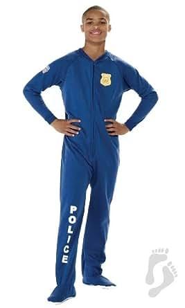 Footed Pajamas U.S. Police Kids Footed Pjs - XSmall