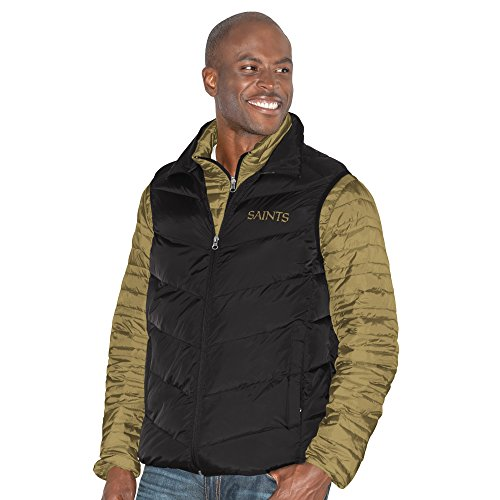 G-III Sports NFL New Orleans Saints Three and Out 3-in-1 Systems Jacket, Large, Gold/Black