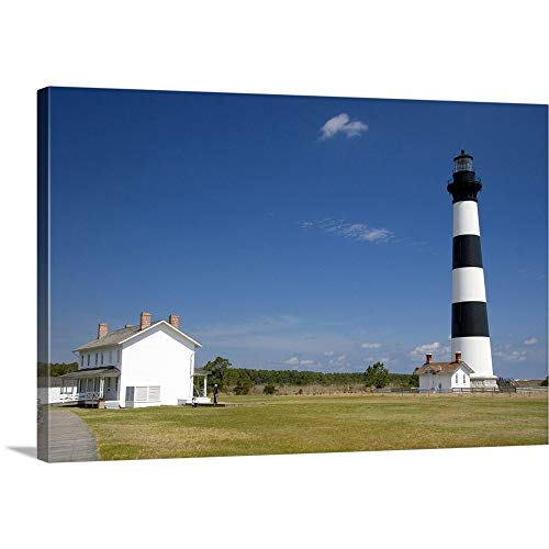 David R. Premium Thick-Wrap Canvas Wall Art Print Entitled Bodie Island Lighthouse at Cape Hatteras, North Carolina 18