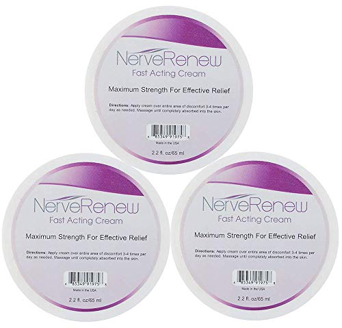 Life Renew: Cream - Topical Nerve Pain Relief Formula - Breakthrough Delivery System for Fast Acting Results - 3pk
