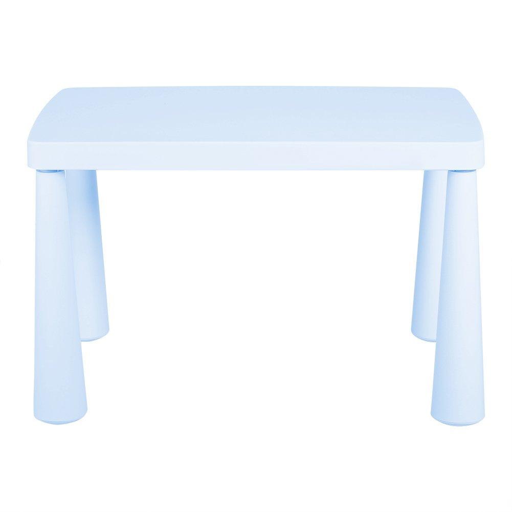Tavolo in plastica per bambini, tavolo rettangolare per imparare e giocare - Tre Colori A Scelta Rose Zerone