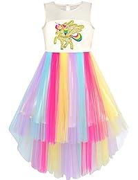 Girls Dress Sequin Mesh Party Wedding Princess Tulle 7ca1d01aa51a
