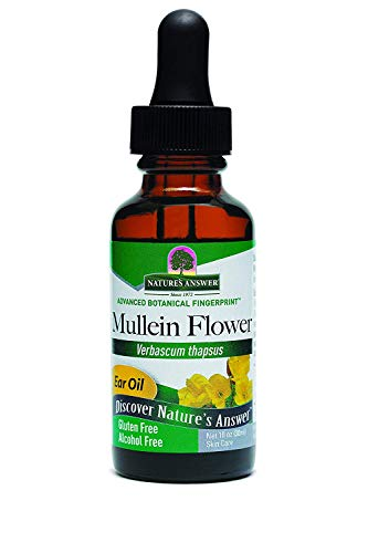 Nature's Answer Alcohol-Free Mullein Flower Ear Oil Topical Formula, 1-Fluid Ounce (Mullein Flower Oil Alcohol)
