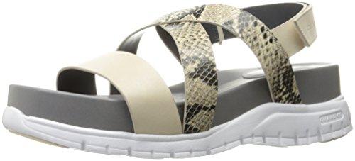 Cole Haan Women's Zerogrand Criss Cross Gladiator Sandal, Roccia Snake Print/Sandshell/Optic White, 9 B (Snake Print Gladiator Sandal)