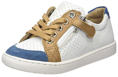 Shoo Pom Play Lo Bi Zip - Zapatillas de deporte Niños Blanc (white/roy.blue/camel)