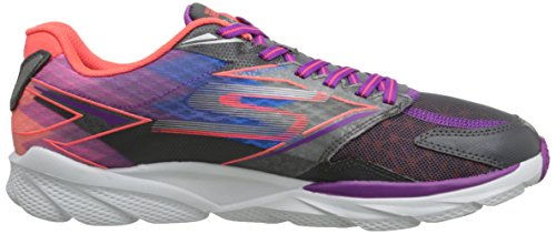 Skechers  Go Run Ride 4,  Damen Laufschuhe Grey (Grey/Purple)