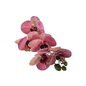 helegeSONG Fake Flowers Silk Plastic Artificial Plant 1Pc Artificial Flower Butterfly Orchid DIY Stage Party Festival Office Decor for Home,Office,Wedding,Garden, Pool, Gift, Desk, Hotel - Purple 22