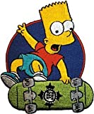 The Simpson: Bart Simpson on Skateboard Patch